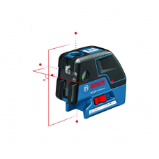 Bosch GCL 25 Five-Point Self-Leveling Alignment Laser and Cross-Line