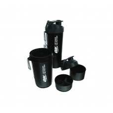 Optimum Nutrition Shaker With Compartments 800ml - Black