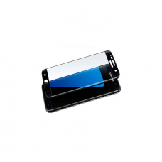 Curved Edge Glass Protector For Samsung S6 Edge  (Black)