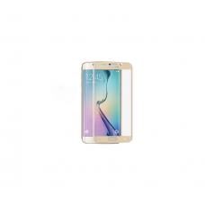 Curved Edge Glass Protector For Samsung S6 Edge  (Gold)