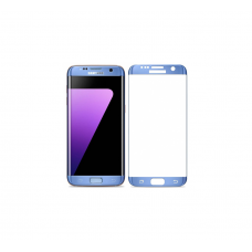 Curved Edge Glass Protector For Samsung S7 Edge (Blue)