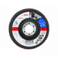 BOSCH 115mm Flap Disc For Metal 60 Grit [2608605451]