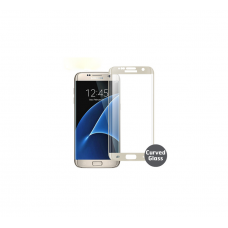 Curved Edge Glass Protector For Samsung S7 Edge (White)