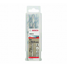 BOSCH 2608595078 DRILL BITS HSS-G DIN 338 10.5MM X 87MM X 133MM