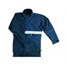 Rain Suit Navy Blue With Reflectors (up And Down)
