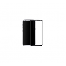 Curved Edge Glass Protector For Samsung S8  (Black)